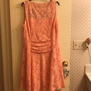 Misses Lace Peach (Salmon) dress